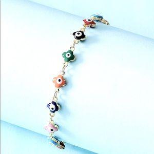 NEW Evil Eye Gold toned Adjustable Bracelets